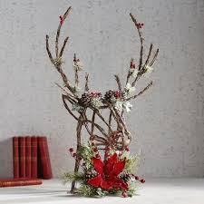 Deer Tree Topper National Company Outdoor Christmas Decorations