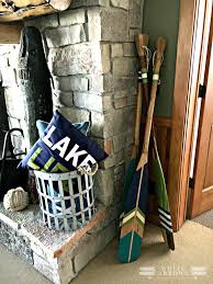 Decorative Wooden Oars And Paddles by Lake House Style Paddles And Oars White Arrows Home