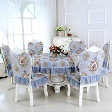 Dining Room Table Covers Sunnyrain 7 Piece Lace Luxury Round Cloth Set Tablecloth Chair Cover