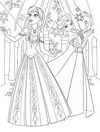 Color Pages Of Anna Elsa Frozen Walt Disney Princess Characters At Coloring