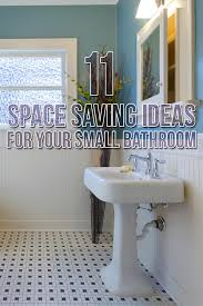 11 space saving ideas for your small bathroom budget dumpster