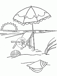 Luxury Beach Coloring Page 66 For Download Pages With