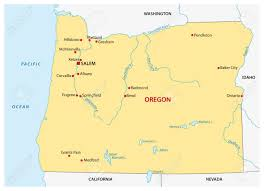 Simple Oregon State Map Stock Vector