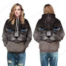 cat hoodies unique 3d print black cat hoodies sweatshirt