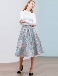 How Lovely 50s Retro Style Floral Skirt