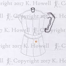 Coffee Hand Embroidery Pattern Maker Espresso Pot Percolator Home Filter Roast Bean Cup Grind Caffeine Kitchen Mug PDF