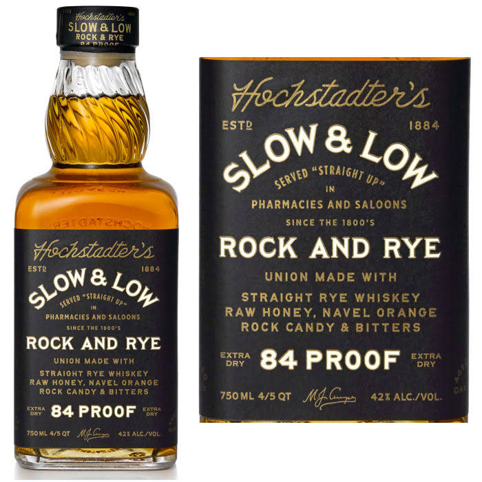 Hochstadter's Slow & Low Rock & Rye Straight Rye Whiskey