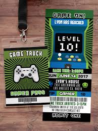 Video Game Invitation | Game Truck Party Invitations | Video Game ... Photo And Video Inland Empire Fontana Game Truck Pitfire Pizza Make For One Amazing Party Discount Geek With Curves Meeting George Rr Martin At The Of Thrones The Wellness Los Angeles Food Trucks Roaming Hunger Virtual Reality Racing Simulator Help Sought Identifying La Metro Rider Suspected Slashing Mans Riding The American Dream In Ats Game American Mod Gallery Totally Rad Games Check Out Httpthrilonwheelsgametruckcom For Game Ultimate Squad