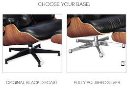 Eames Lounge Chair + Ottoman Red   Collector Replica Vitra Eames Lounge Chair Design Charles Et Ray 1956 Mid Century Modern Replacement Steel Swivel Lcw Replica Wood Chair Plywood Group Diiiz Ottomann Polished Black Sides Walnut New Size Ottoman Modterior Usa Herman Miller And White Ash In Mohair Supreme With Classic Black 2019 Leather Walnut The Conran Shop
