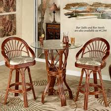 Dinette Sets With Caster Chairs by Leikela Rattan Tropical Dining Furniture Set