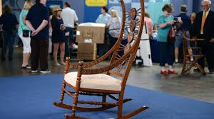 Appraisal: American Oak Rocking Chair, Ca. 1890 Fding The Value Of A Murphy Rocking Chair Thriftyfun Black Classic Americana Style Windsor Rocker Famous For His Sam Maloof Made Fniture That Vintage Lazyboy Wooden Recliner Unique Piece Mission History And Designs Homesfeed Early 20th Century Chairs 57 For Sale At 1stdibs How To Make A Fs Woodworking 10 Best Rocking Chairs The Ipdent Best Cushions 2018 Restoring An Old Armless Nurssewing Collectors Weekly Reviews Buying Guide August 2019