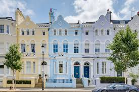 104 Notting Hill Houses Blue House For Sale In One Of London S Most Colourful Streets On The Market