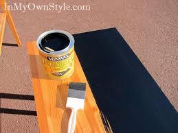 Painting Furniture Black Stain vs Black Paint