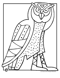 Owl Coloring Pages Art Page Classroom Jr