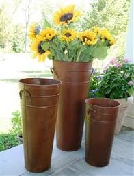 Beautifully Made Rustic Style French Flower Buckets Have A Finish That Looks As Though It Has Been Through Many Months In The Rain And Weather