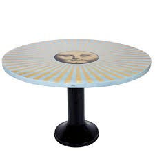 Fornasetti Dining Table Top O100cm Sole Raggiante Gold Blue
