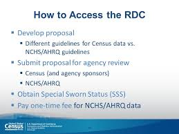 bureau of census and statistics data in the federal statistical research data centers