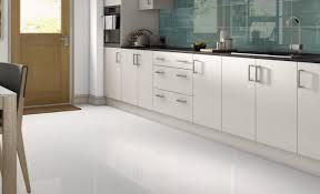 cabinet white tile floor in kitchen white floor tile black and