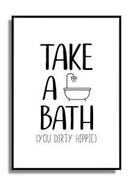 take a bath and relax deko geschenk druck poster bild din a4