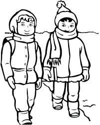 Winter Clothes Coloring Pages Clothing Preschool Sheets Wear