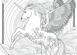 Hard Unicorn Coloring Pages Free Printable Adult Unicorns Detailed