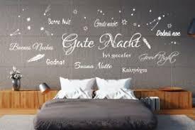 details zu wandtattoo wandsticker schlafzimmer gute nacht verschiedene sprachen sterne tk36