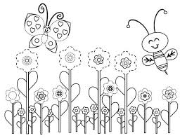 Free Printable Coloring Pages Flowers And Butterflies On Art
