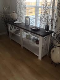 Rustic X Console Table Plus Beige As Well Trestle And