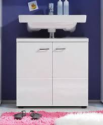 details zu waschbeckenunterschrank in weiß hochglanz bad möbel unterschrank nightlife 65 cm