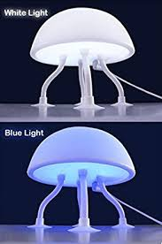 Jellyfish Mood Lamp Amazon blue white jellyfish led mood light night lamp for kids with usb