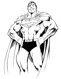 Superman From Dc Comics Coloring Page