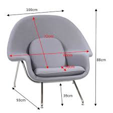 designer replica womb chair in light grey furniture home décor