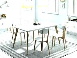 Modern White Dining Room Chairs Contemporary Table And