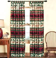 Country Cabin Curtains Great Style Shower And Rustic Living Room