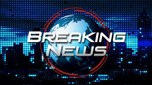 Breaking News Title Animation Blue On LED City Background