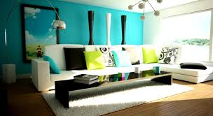 playful living room color scheme with decorative pillows and