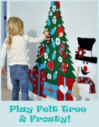 Frosty Snowman White Christmas Tree by Play Felt Christmas Tree U0026frosty All Things Heart And Home