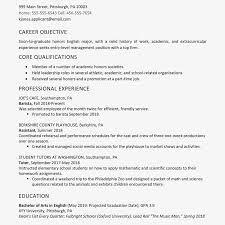 Screenshot Of A High School Graduate Resume Example
