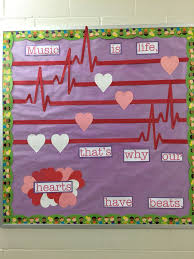 Music Is Life Thats Why Our Hearts Have Beats Valentines Bulletin