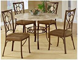 5 Piece Oval Dining Room Sets by Amazon Com Hillsdale Brookside Round 5 Piece Dining Set With