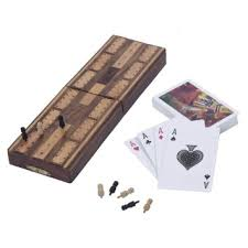 Get Quotations Craft Art India Brown Wooden Cribbage Board Indoor Game And Pegs Set With Storage