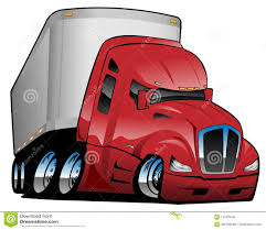 100 Semi Truck Pictures With Trailer Cartoon Vector Illustration Stock Vector