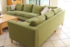 Ikea Kramfors Sofa Cover by Karlanda Corner Sofa 3 2 Cover Sofa Covers Green Fabric And