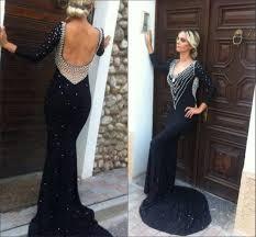 popular long sleeve black dress low back buy cheap long sleeve