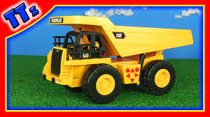 100 Caterpillar Dump Truck Toy Construction Unboxing Review