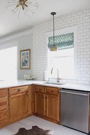 Gel Stain Cabinets White by Best 25 Dark Oak Cabinets Ideas On Pinterest Kitchen Tile