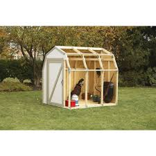 2x4 basics shed kit with barn style roof walmart com