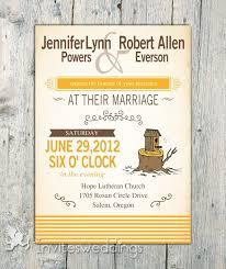 Affordable Yellow Tree Stool Rustic Wedding Invitations IWI253