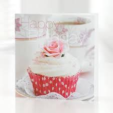 Happy Birthday Cupcake Greetings Card