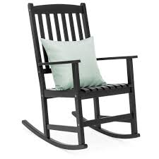Best Choice Products Indoor Outdoor Traditional Slat Wood Rocking Chair  Furniture For Patio, Porch, Living Room - Black Surprising Oversized White Rocking Chair Decorating Baby Outdoor Polywood Jefferson 3 Pc Recycled Plastic Rocker 10 Best Chairs Womans World Presidential Black 3piece Patio Set Hanover Allweather Pineapple Cay Porch Good Looking Gripper Cushions Ding Room Xiter Bamboo Adjustable Lounge Leisure Iron Alloy Waterproof Belt Parryville Classic Wicker Wood